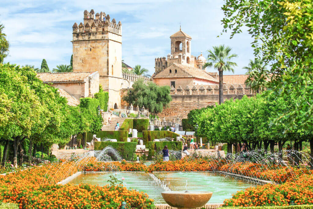 Photo of the Alcazar de los Reyes Cristianos in Cordoba, Spain, an easy day trip from Seville