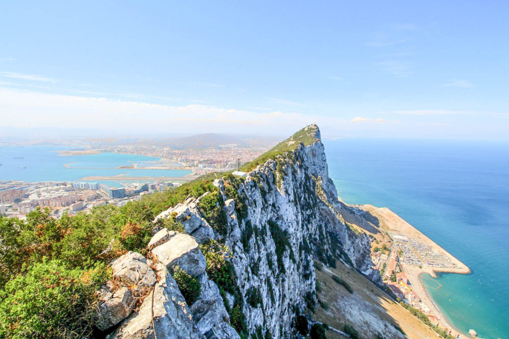 Photo of the Rock of Gibraltar, a fun day trip from Seville, Spain