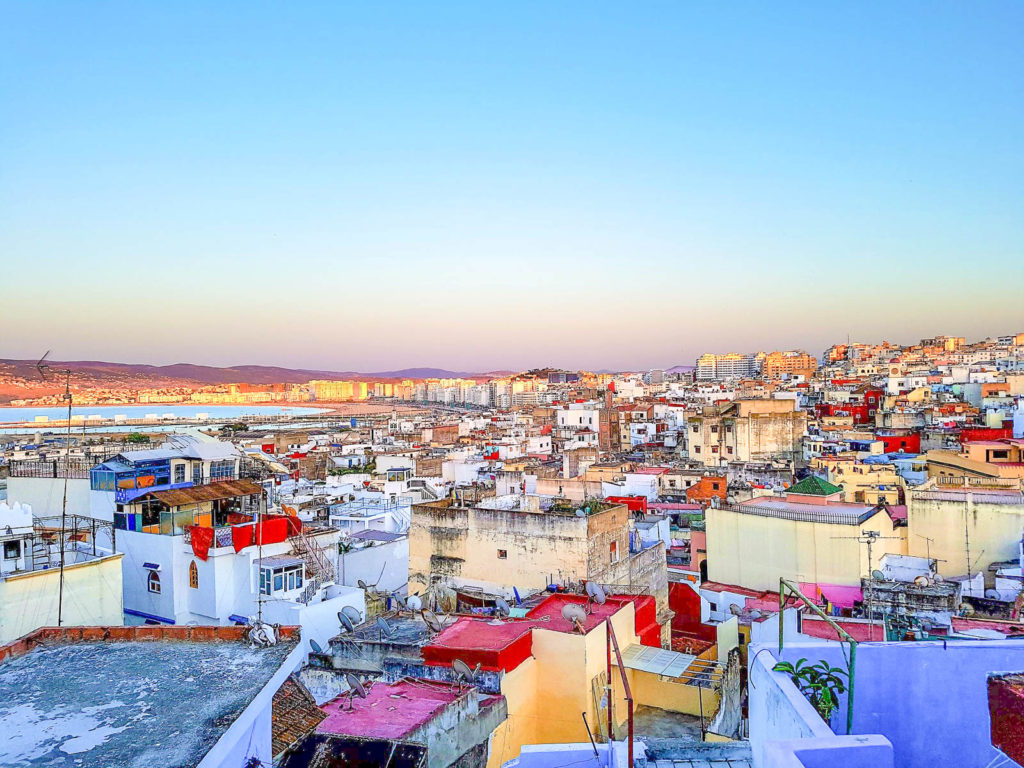View of Tangier, Morocco, one of the best day trips from Seville