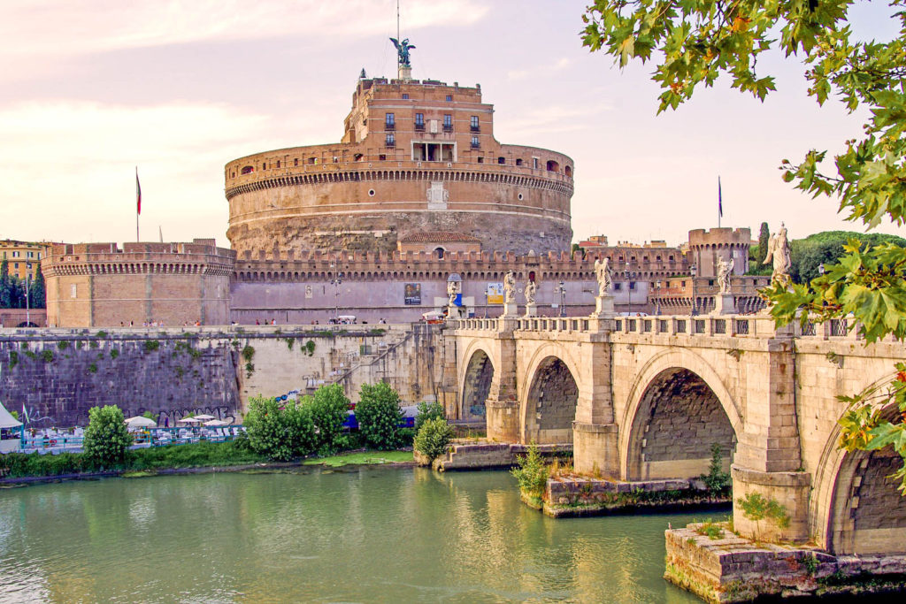 A view of Castel San'Angelo, with the bridge in front