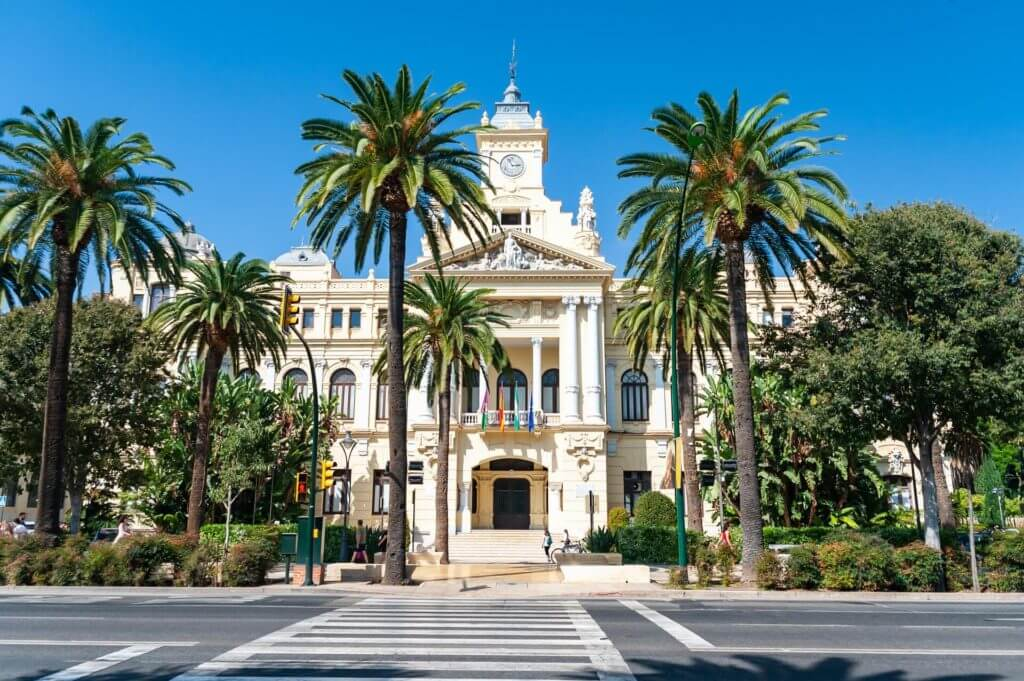 Photo of the town hall in Malaga, Spain