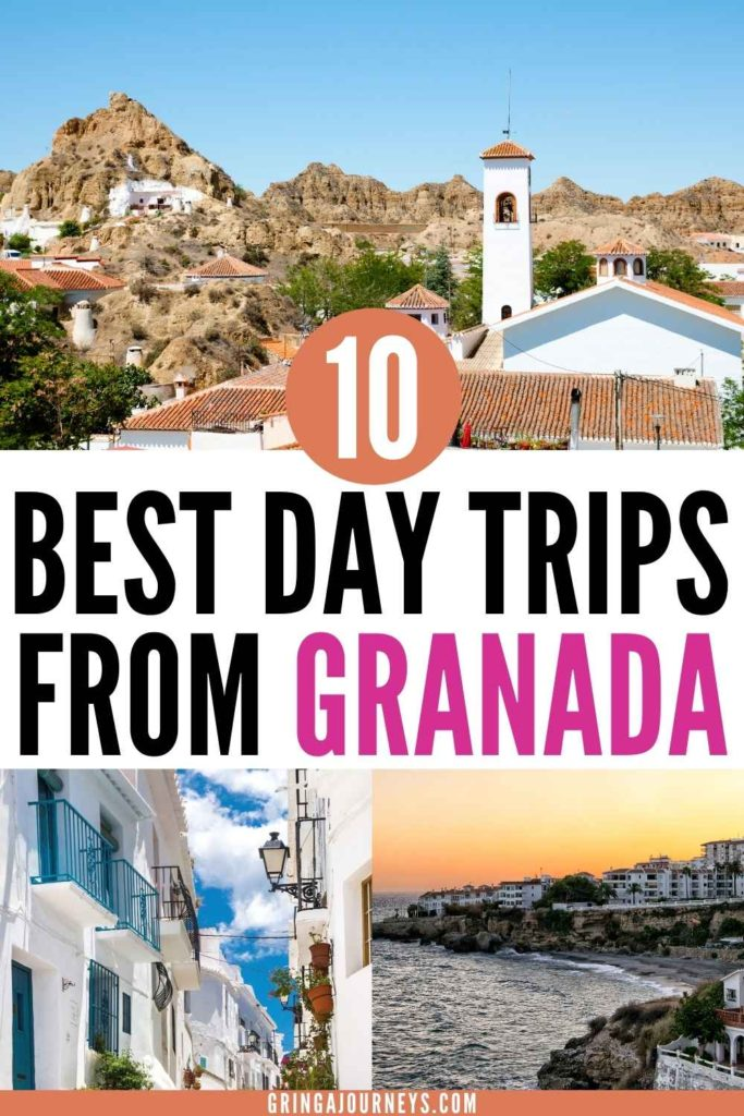 This list covers the 10 best day trips from Granada, Spain, including other top cities in Andalusia like Cordoba and Seville and some hidden gems, such as Guadix, Las Alpujarras, and more! | granada day trips | day tours from Granada spain